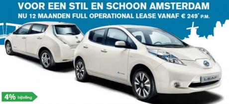 Rij de Nissan LEAF nu 12 maanden full operational lease voor slechts € 249 p.m.