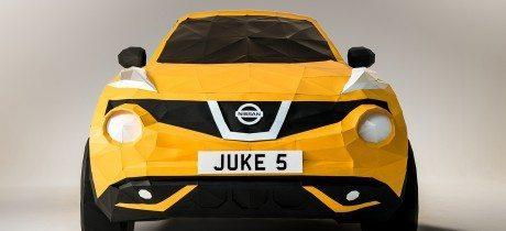 Nissan viert vijfde verjaardag JUKE met origami replica op ware grootte