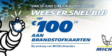 Michelin brandstof actie: tot € 100 aan brandstof gratis!