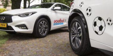 Voetbal International & Infiniti: perfect match tussen grasmat en asfalt