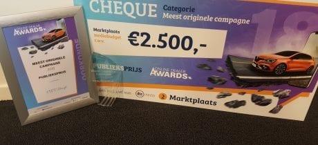 VKV Groep valt in de prijzen bij Online Dealer Awards