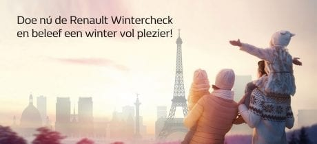 Doe nú de Renault Wintercheck en beleef een winter vol plezier!