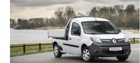 Renault Kangoo Z.E. lokaal omgebouwd als pick-up